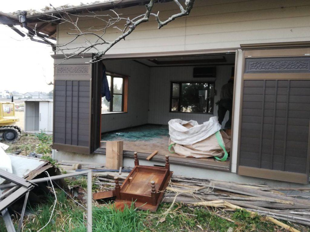 稲沢の現場の解体作業の様子、